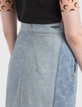 Marine Serre Regenerated Denim Skirt 10 Blue Women