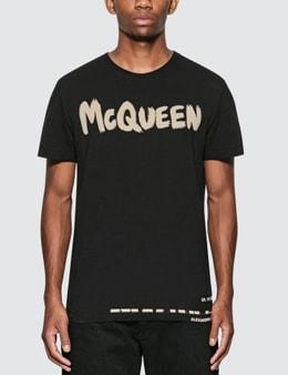 Alexander McQueen McQueen Grafitti Logo Cotton T-Shirt