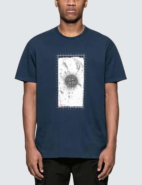 스톤 아일랜드 19 S/S  2NS82 'GRAPHIC FIVE' FLUO 반팔 티셔츠 Stone Island S/S T-Shirt