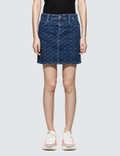 Stella McCartney Allover Logo Denim Skirt Picutre