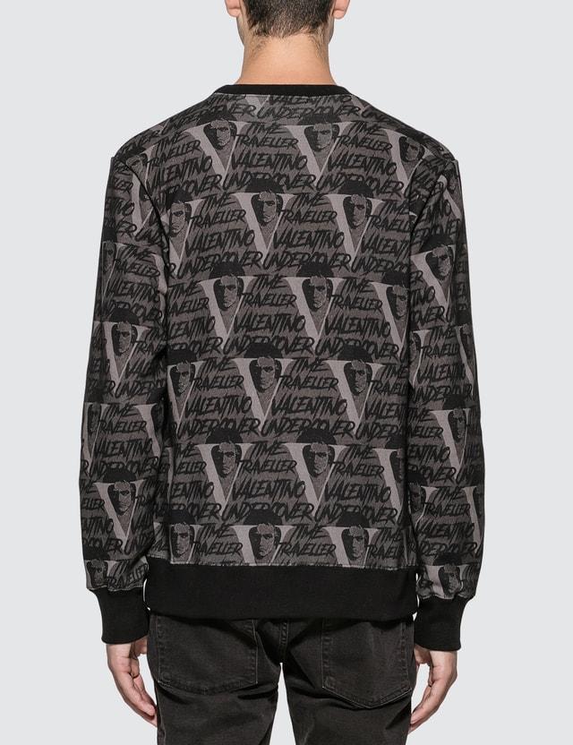 Undercover Valentino x Undercover Allover V Face Sweatshirt Black Base Men