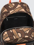 Burberry Large Leather Trim Monogram Print Nevis Backpack