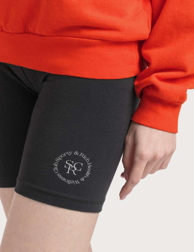 Sporty & Rich Wellness Logo Biker Shorts