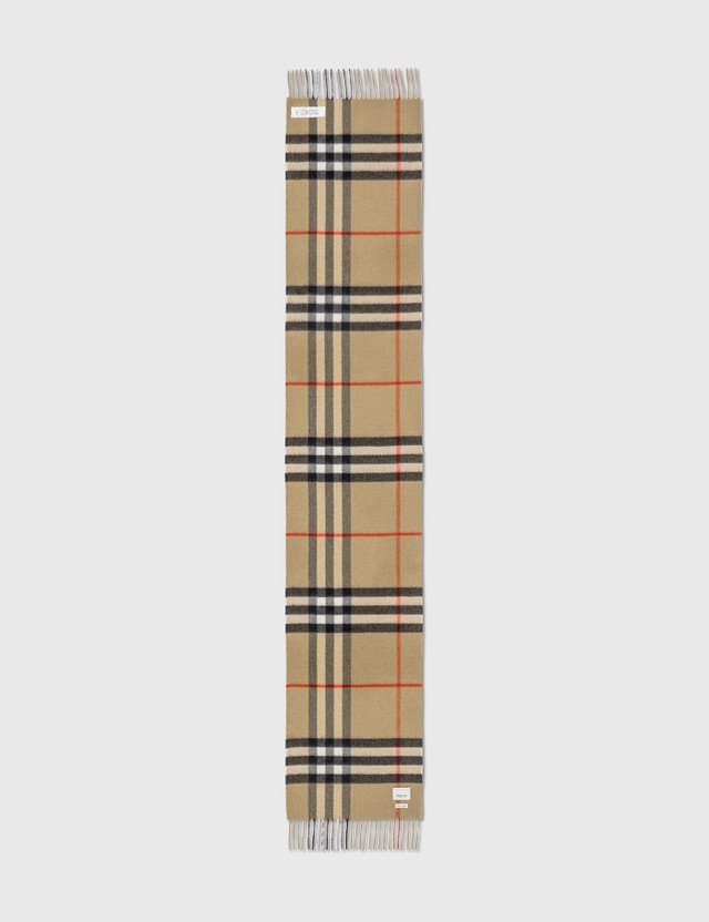Burberry The Classic Check Cashmere Scarf Archive Beige Women