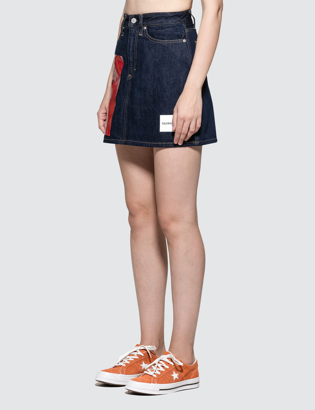 Calvin Klein Jeans Hr Mini Skirt Logo