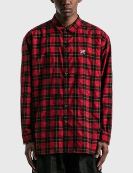 uniform experiment Baggy Regular Collar Check Shirt