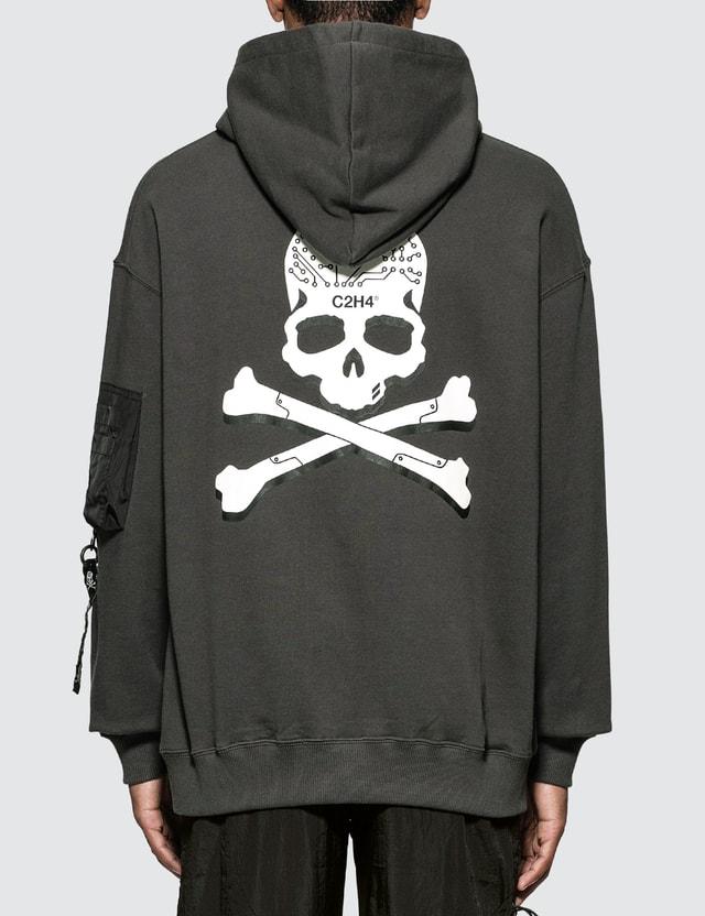 C2H4 x Mastermind Japan Skull Print Zip Pocket Hoodie