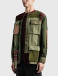 Maharishi Collarless Bdu 오버셔츠 Olive/red Men
