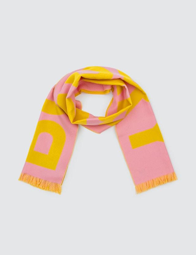 Burberry Logo Wool Jacquard Scarf Candy Pink Women