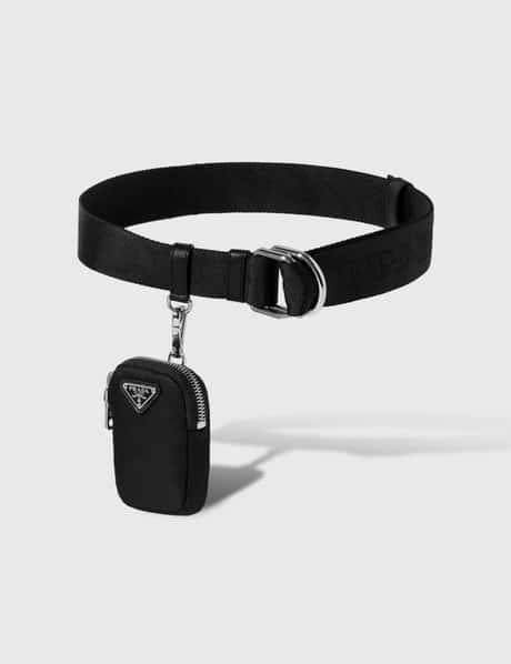 프라다 Prada Belt With Nylon Pocket