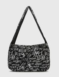 We11done All-over Logo Cotton Cross Bag Black Women