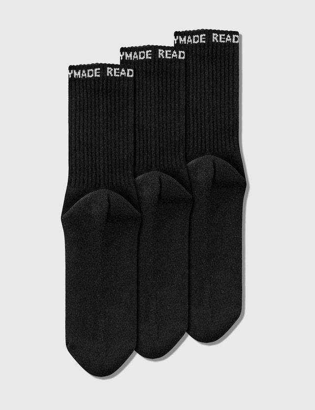 READYMADE 3P Crew Socks Black Men