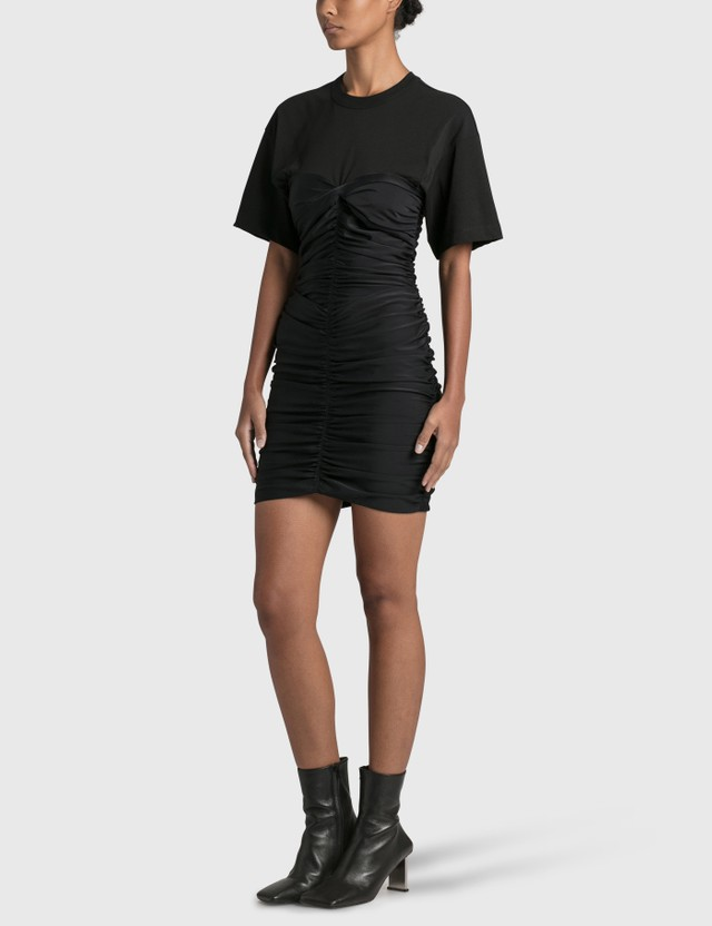 Alexander Wang.T Ruched Bodycon Mini Dress Black/black Women