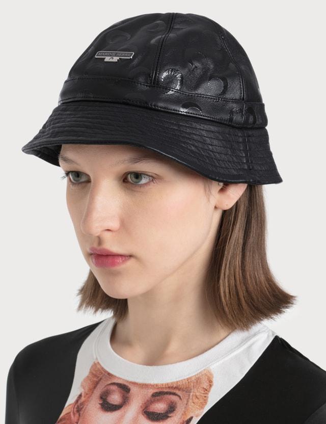 Marine Serre Allover Moon Leather Bucket Hat