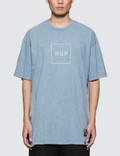 Huf Outline Box Logo Acid Wash T-Shirt Picture