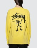 Stussy Warrior Man Pig. Dyed Long Sleeve T-shirt Picture