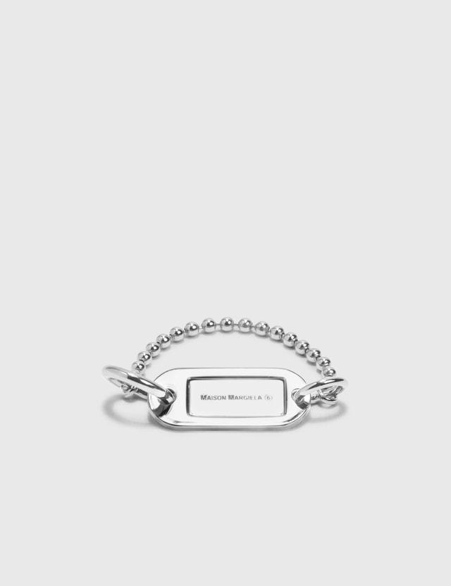 MM6 Maison Margiela Keytag Bracelet Palladium Women