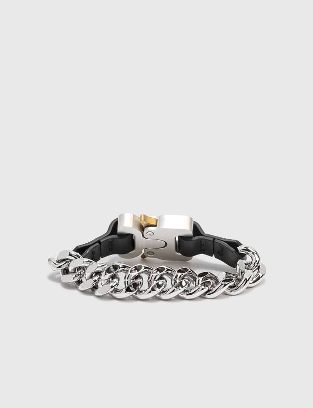 1017 ALYX 9SM Leather Details Chain Bracelet Silver Men