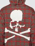 Mastermind World Sleeve Logo Print Tartan Check Hoodie
