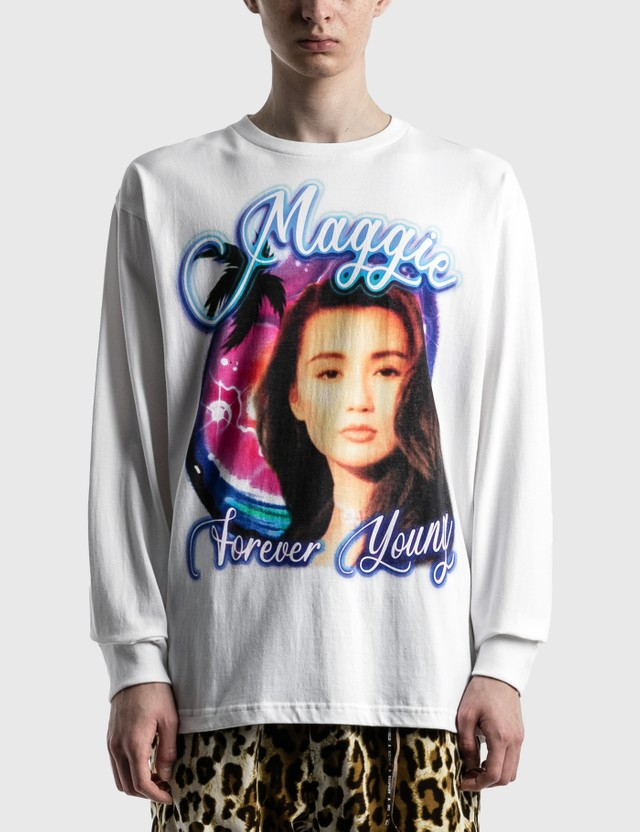 RAW EMOTIONS Maggie Forever Young Long Sleeve T-shirt White Men