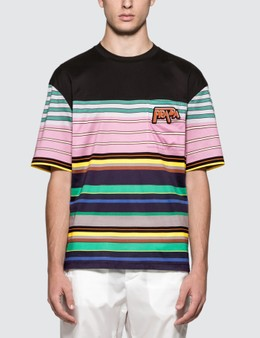 Prada Stripe Box Fit S/S T-Shirt