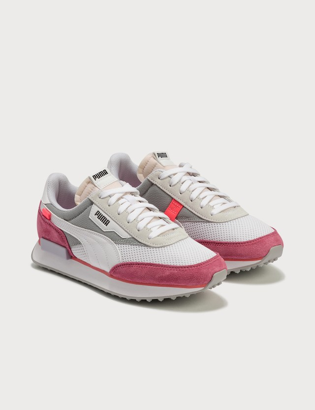 Puma Future Rider Stream On Puma White-bubblegum Women