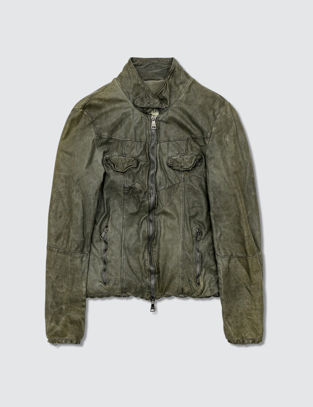 Giorgio Brato Biker Leather Jacket