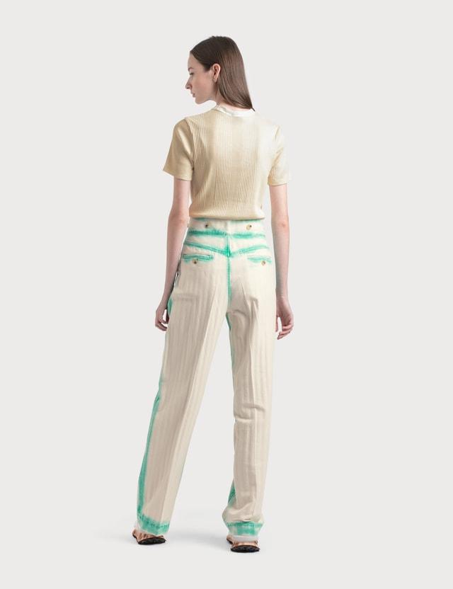 Lanvin Twisted Stitches 7/8 Denim Pants