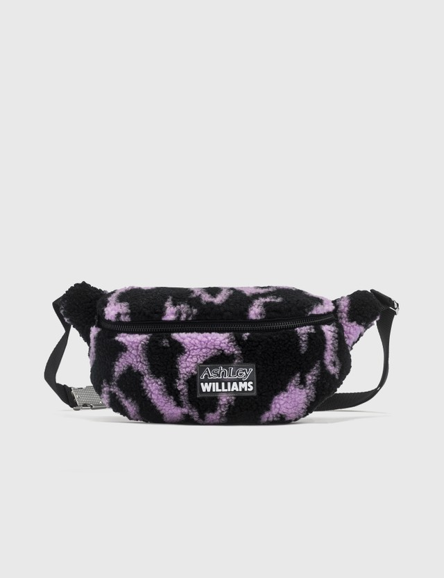 Ashley Williams Animal Print Shearling Belt Bag Purple Women