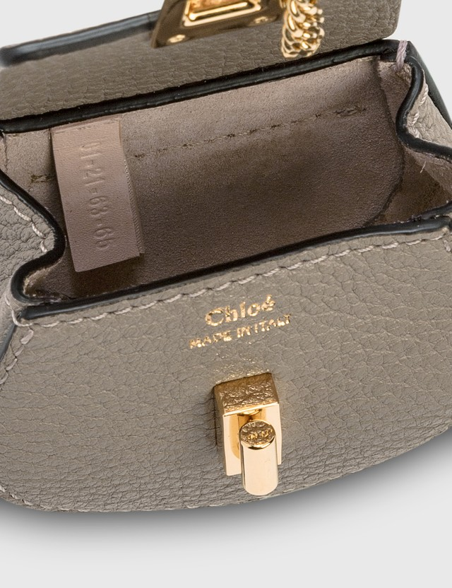 Chloé Mini Drew Wristlet / Belt Bag Motty Grey Women