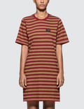 Stussy Murrat Stripped T Shirt Dress Picutre