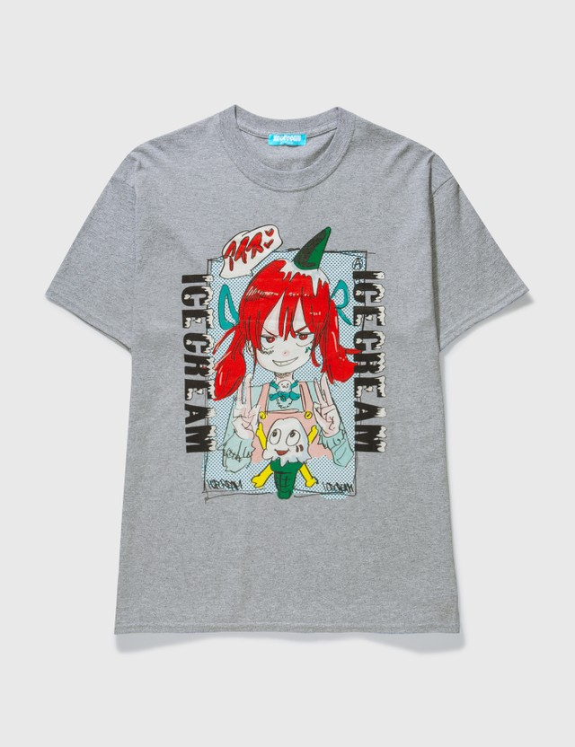 Icecream Icecream X Jun Inagawa Girl T-shirt Grey Unisex