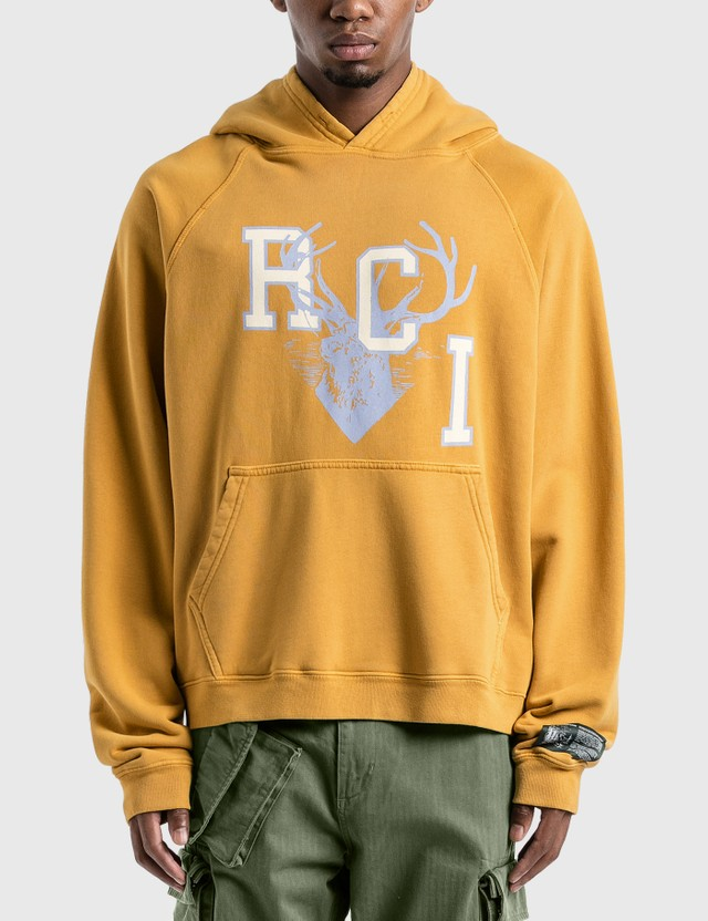 Reese Cooper RCI Deer Logo Hoodie Yellow Men