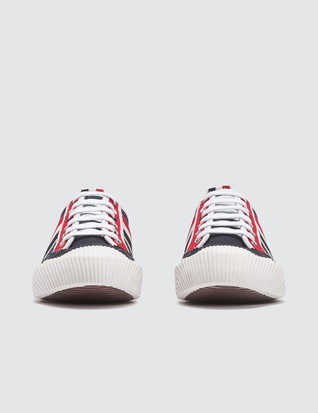 Thom Browne Brogued Lo-top Canvas Trainer