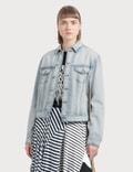 Loewe Denim Jacket Knit Stripe Bands Picutre