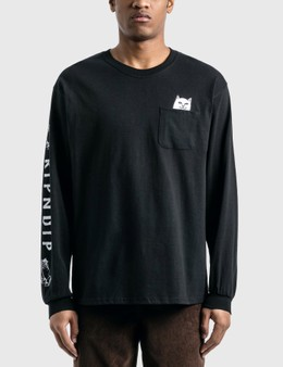 RIPNDIP Lord Nermal Pocket Long Sleeve T-Shirt