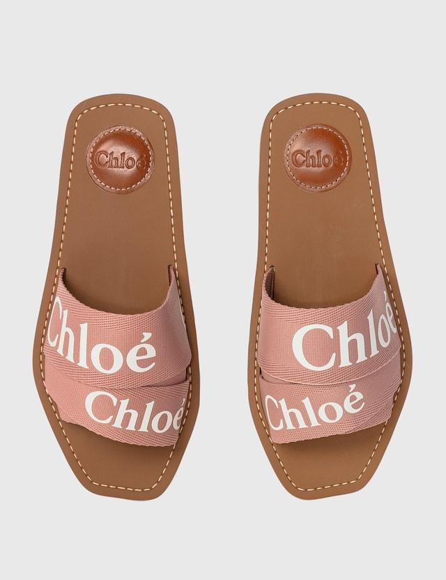Chloé Woody Flat Mule Delicate Pink Women