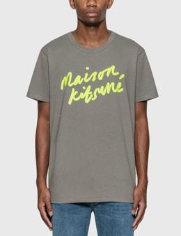 Maison Kitsune Handwriting T-Shirt grey