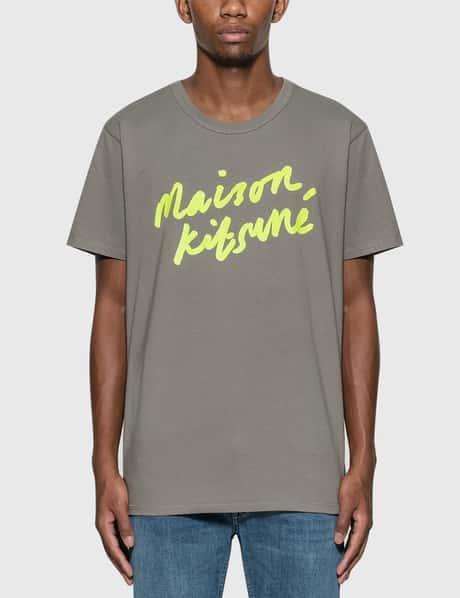 메종 키츠네 Maison Kitsune Handwriting T-Shirt grey