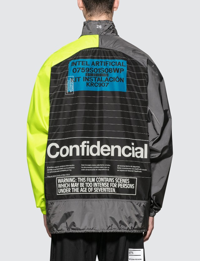 Marcelo Burlon Intel Lettering Windbreaker Multicolor Men
