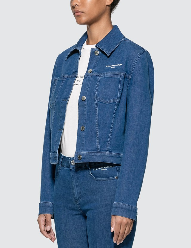 Stella McCartney Cropped Denim Jacket Blue Women