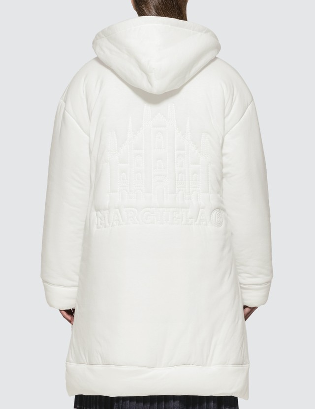MM6 Maison Margiela Oversized Padded Zip Hoodie Jacket