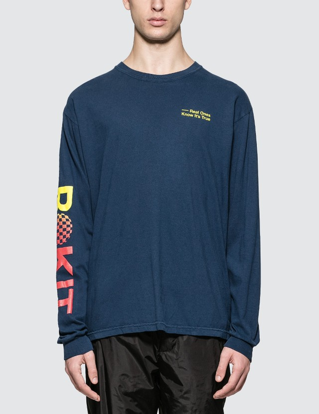 Rokit The Split L/S T-Shirt Blue Men