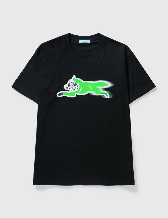 Icecream Icecream × Psychworld Running Dog T-shirt Black Men