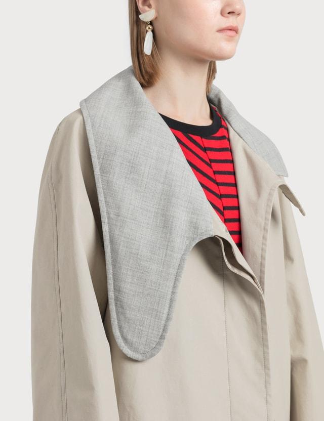 Loewe Long Asym Collar Coat