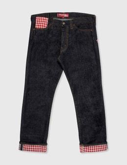 Junya Watanabe Man Junya Watanabe Man X Levi's Red Check Patchwork Jeans