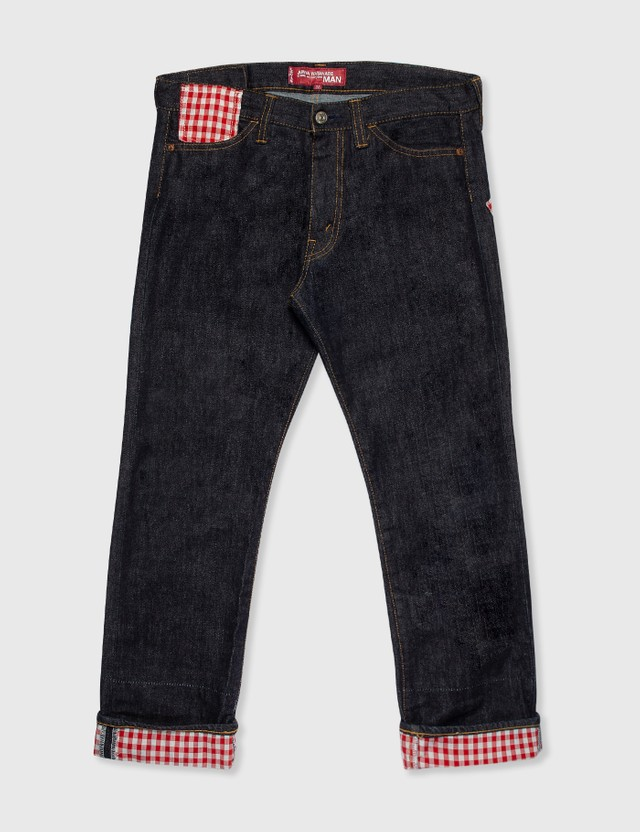 Junya Watanabe Man Junya Watanabe Man X Levi's Red Check Patchwork Jeans Denim Archives