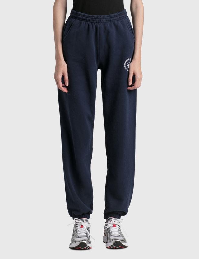 Sporty & Rich SRHWC Sweatpants Navy/white Women