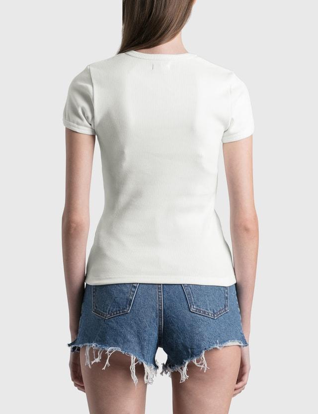 Misbhv Sonic Sculptures Ribbed Slim T-shirt Off-white Women