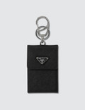Prada Leather Logo Key Ring Phone Case Picture